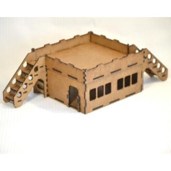 Building 1 + two inclined stairs (173х173х100 мм)